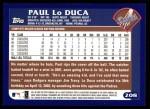 2003 Topps #208  Paul Lo Duca  Back Thumbnail