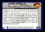 2003 Topps #306   -  Jaime Bubela First Year Back Thumbnail