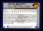 2003 Topps #320   -  Craig Brazell First Year Back Thumbnail