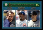 2003 Topps #343   -  Larry Walker / Vladimir Guerrero / Todd Helton NL Batting Leaders Front Thumbnail