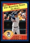 2003 Topps #366   -  Manny Ramirez All-Star Front Thumbnail