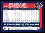 2003 Topps #461  Jim Edmonds  Back Thumbnail