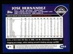 2003 Topps #502  Jose Hernandez  Back Thumbnail