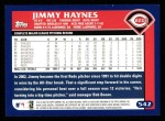 2003 Topps #542  Jimmy Haynes  Back Thumbnail