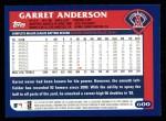 2003 Topps #600  Garret Anderson  Back Thumbnail