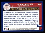 2003 Topps #698   -  Scott Rolen Award Winners Back Thumbnail