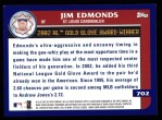 2003 Topps #702   -  Jim Edmonds Award Winners Back Thumbnail