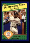 2003 Topps #713   -  Barry Bonds All-Star Front Thumbnail