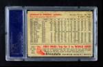 1953 Glendale Hot Dogs  Jerry Priddy  Back Thumbnail