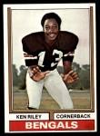 1974 Topps #511  Ken Riley  Front Thumbnail