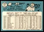 1965 Topps #471  Billy Hoeft  Back Thumbnail