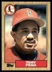 1987 Topps Traded #95 T Tony Pena  Front Thumbnail