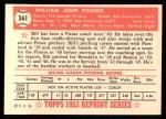 1952 Topps REPRINT #361  William Posedel  Back Thumbnail