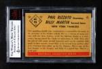 1953 Bowman #93  Phil Rizzuto / Billy Martin  Back Thumbnail