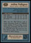 1981 Topps #87 W Mike Foligno  Back Thumbnail