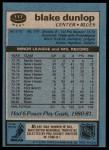 1981 Topps #117 W Blake Dunlop  Back Thumbnail