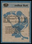 1981 Topps #128 W  -  Mike Liut Super Action Back Thumbnail