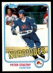 1981 Topps #39  Peter Stastny  Front Thumbnail