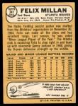 1968 Topps #241  Felix Millan  Back Thumbnail