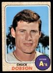 1968 Topps #62 A Chuck Dobson  Front Thumbnail