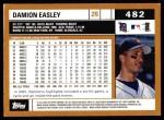 2002 Topps #482  Damion Easley  Back Thumbnail