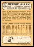 1968 Topps #548  Bernie Allen  Back Thumbnail