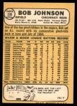 1968 Topps #338  Bob Johnson  Back Thumbnail