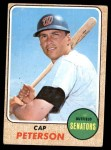1968 Topps #188  Cap Peterson  Front Thumbnail