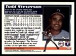 1995 Topps Traded #31 T Todd Steverson  Back Thumbnail
