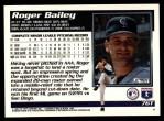 1995 Topps Traded #76 T Roger Bailey  Back Thumbnail