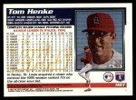 1995 Topps Traded #98 T Tom Henke  Back Thumbnail
