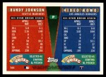1995 Topps Traded #164 T  -  Hideo Nomo / Randy Johnson All-Star Back Thumbnail