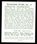 1934 Diamond Stars Reprint #11  Bill Dickey  Back Thumbnail