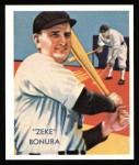 1934 Diamond Stars Reprint #65  Zeke Bonura  Front Thumbnail