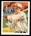 1934 Diamond Stars Reprint #75  Irving Burns  Front Thumbnail
