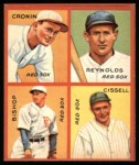 1935 Goudey 4-in-1 Reprint #6 E Joe Cronin / Carl Reynolds / Max Bishop / Chalmer Cissell  Front Thumbnail
