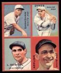 1935 Goudey 4-in-1 Reprint #7 F George Earnshaw / Jimmy Dykes / Luke Sewell / Luke Appling  Front Thumbnail