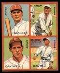 1935 Goudey 4-in-1 Reprint #8 L Al Spohrer / Flint Rhem / Ben Cantwell / Larry Benton  Front Thumbnail