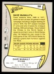 1988 Pacific Legends #38  Dave McNally  Back Thumbnail