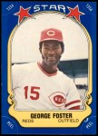 1981 Fleer Star Stickers #41  George Foster   Front Thumbnail