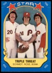 1981 Fleer Star Stickers #43   Rose / Larry Bowa / Mike Schmidt   Front Thumbnail