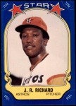 1981 Fleer Star Stickers #44  J. R. Richard   Front Thumbnail