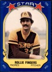 1981 Fleer Star Stickers #47  Rollie Fingers   Front Thumbnail