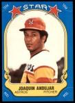 1981 Fleer Star Stickers #48  Joaquin Andujar   Front Thumbnail