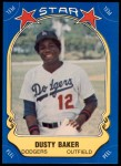 1981 Fleer Star Stickers #62  Dusty Baker   Front Thumbnail
