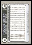 1981 Fleer Star Stickers #87  Reggie Smith   Back Thumbnail