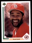 1991 Upper Deck #162  Ozzie Smith  Front Thumbnail