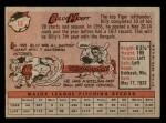 1958 Topps #13 YN Billy Hoeft  Back Thumbnail