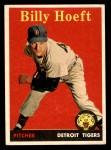 1958 Topps #13 YN Billy Hoeft  Front Thumbnail