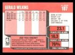 1989 Fleer #107  Gerald Wilkins  Back Thumbnail